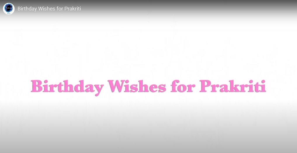 Prakriti celebrates its 9th birthday…